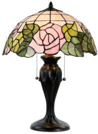 5912 Tafellamp Tiffany H58cm Ø40cm Bleikur