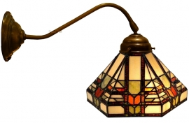 9021 410 Wandlamp Tiffany Ø25cm Midway