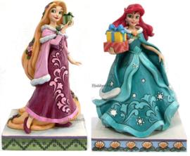 Christmas Prinsessen - Set van 2 - Rapunzel & Ariel