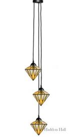 8115 Hanglamp met 3 Tiffany kappen Ø18cm Aiko