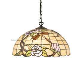 5946 Hanglamp Tiffany Ø40cm Dragonfly on Roses