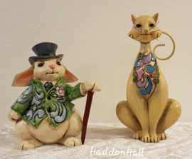 Mini Figurines - Set van 2 -Rabbit  & Cat  Jim Shore