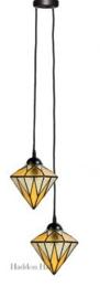 8115 Hanglamp met 2 Tiffany kappen Ø18cm Aiko