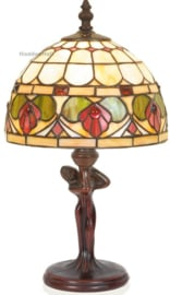 DT24 Tafellamp Jugendstil Dame H34cm met Tiffany kap Ø20cm Royal