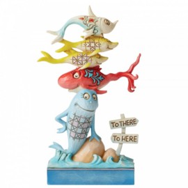 One Fish, Two Fish, Red Fish, Blue Fish Figurine H16cm Dr. Seuss by Jim Shore