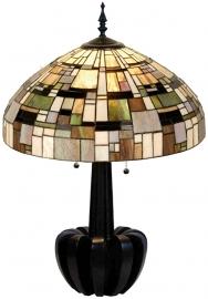 1143 Tafellamp Tiffany H72cm Ø50cm Art Deco Green