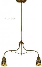 "9920x2 700 Hanglamp 70cm met 2 Tiffany kappen Ø12cm ""Libelle"""