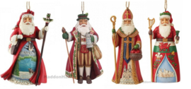 Set van 4 Hanging Ornaments - Canadian - German . Czech  & Welsh- Jim Shore