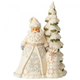 "White Woodland Santa H27cm ""Secrets of The Snowfall"" Jim Shore 6004168"