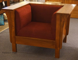 "Fauteuil ""Arts & Crafts"" B108 cm Frank Lloyd Wright"
