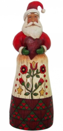 """Folklore Santa with Heart"" H28cm Jim Shore 4058766"