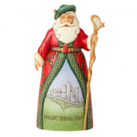 Celtic Christmas Greetings H18cm Jim Shore Irish Santa 6004237