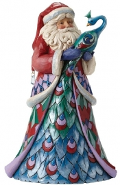 """Santa Style"" with Peacock H25cm Jim Shore 4047660"
