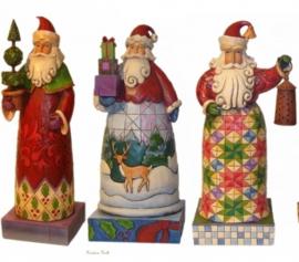 Set van 3 Kerstmannen H20cm Jim Shore