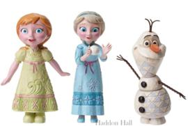 Frozen - Anna , Elsa & Olaf H11cm Set van 3 mini-figurines Jim Shore