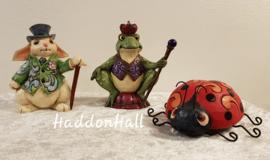 Mini Figurines - Set van 3 - Rabbit Frog & Ladybug - Jim Shore