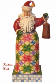 """Holiday Bright"" Santa with lantern H19,5cm Jim Shore Kerstman uit  2008!"