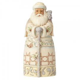 "White Woodland Santa H15cm ""Winter Adventures.."" Jim Shore 6001415"