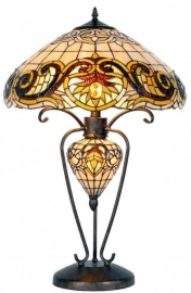 5475 Tafellamp Tiffany  H72cm Ø46cm Pendragon Verlichting in de voet
