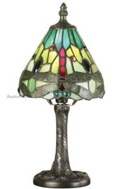 64099 Tafellamp Tiffany H32cm Ø15cm Green Dragonfly