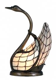 "9885 Tiffany lamp H45cm  ""Zwaan"" Lichtgeel"