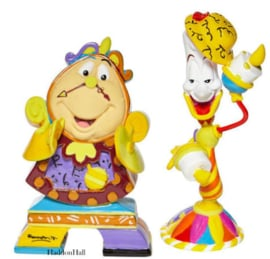 Set van 2 Romero Britto mini figurines - Cogworth & Lumiere
