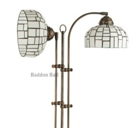 Gph1 Vloerlamp Half Rond met 2 Tiffany kappen Ø20cm Iglo