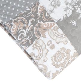 Q169 Clayre & Eef Bedsprei 140 x 220 cm Quilt Patchwork-style beddesprei