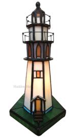 6006 Tiffany lamp H25cm Vuurtoren