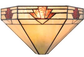 5213 Wandlamp Tiffany B30cm schelpmodel Nevada