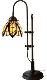 8119 Bureaulamp Tiffany Verstelbaar H45-55cm Flow Souplesse