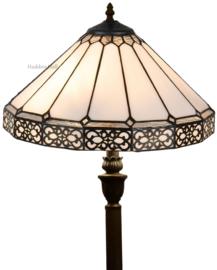 5211 V466 Vloerlamp H156cm met Tiffany kap Ø41cm Boleyn