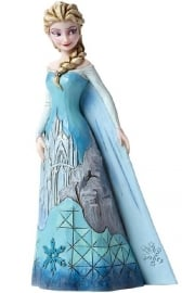 "Frozen  ELSA ""Fortress of Frost"" H18cm Jim Shore 4046035 retired"