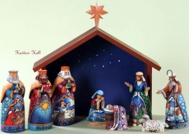"""Away in a Manger"" H26cm 9-delig JIM SHORE kerststal  4027720"