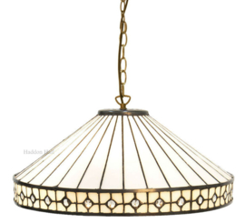 5984 97 Hanglamp Tiffany Ø40cm White Diamond