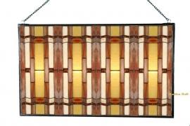 5594 Voorzetraam Tiffany 47x77cm Art Deco motief