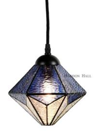 8113 Hanglamp Textielsnoer met Tiffany kap Ø20cm Akira Blue