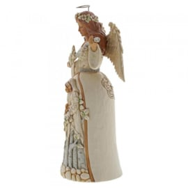 White Woodland Angel H25cm Breath of Heaven Jim Shore 6004173