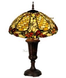5429 Tafellamp Tiffany H74cm Ø50cm Wallflower.