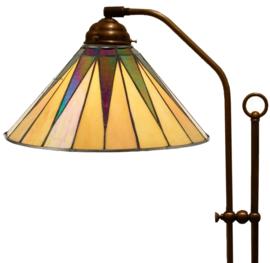 68440 Vloerlamp met Tiffany kap Ø30cm Dark Star