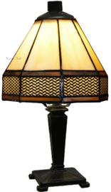 5819 TB20MIN Tafellampje Tiffany H31cm Ø18cm Wall Deco