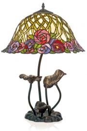 KT162512 Tafellamp Lakan H64cm met Tiffany kap Diana Ø40cm