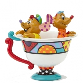 Jaq & Gus in Tea Cup H12,5cm Disney by Britto 4044110