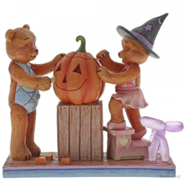 "Fright Night Fun ""Button & Pinky Carving Pumpkin H12,5cm Jim Shore 6005121"
