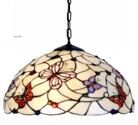 5365 Hanglamp Tiffany Ø40cm  Pink Butterfly