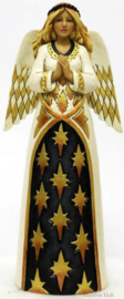 """Black & Gold Praying Angel""H26cm Jim Shore 6001436"