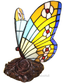 6106 Tafellamp H24cm Butterfly Multicolor