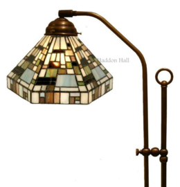 1150 Vloerlamp Verstelbaar met Tiffany kap Ø25cm Arty Deco Green