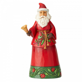 Sound The Christmas Bell - Santa with Bell Figurine - H19cm Jim Shore 6004138