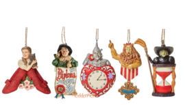 Set van 5 Wizard of Oz Hanging Ornaments - Jim Shore